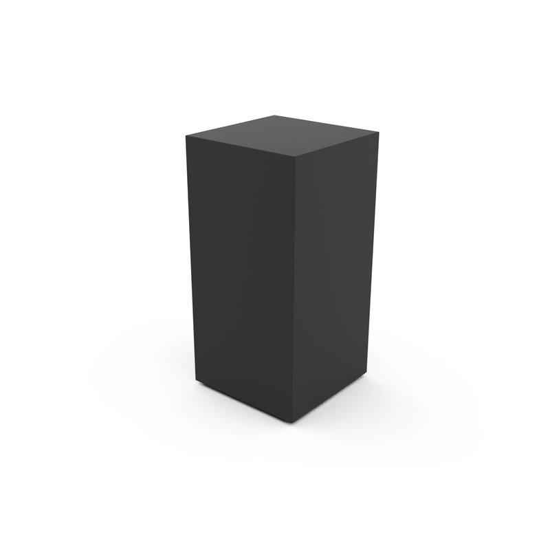 RVS urn paris klein zwart - RVS