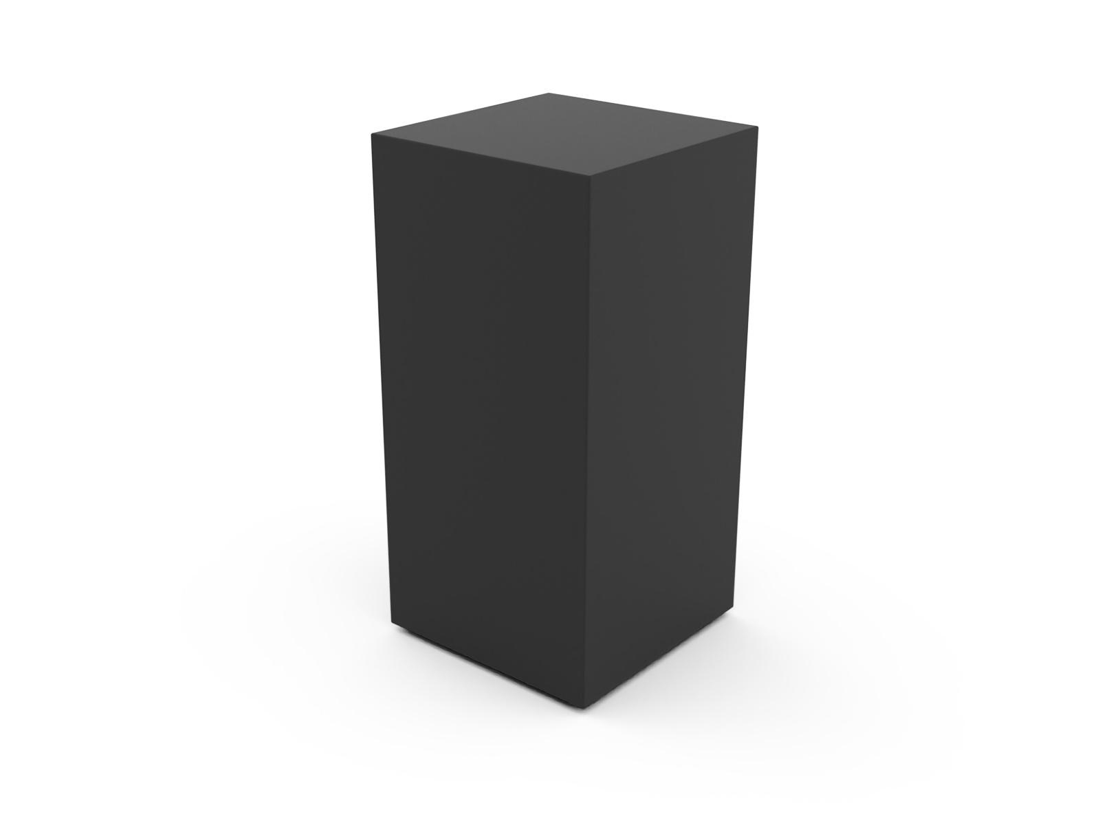 RVS urn paris groot zwart - RVS