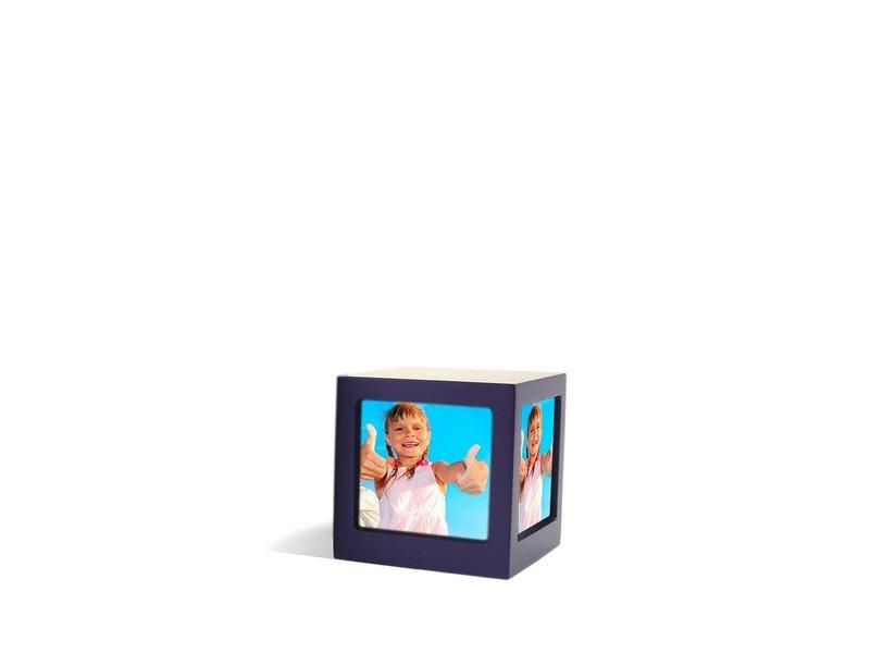 Foto kubus urn violet S - hout