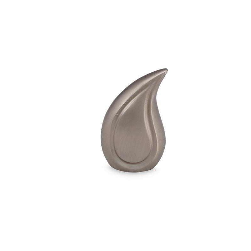 Teardrop pewter urn mini - messing
