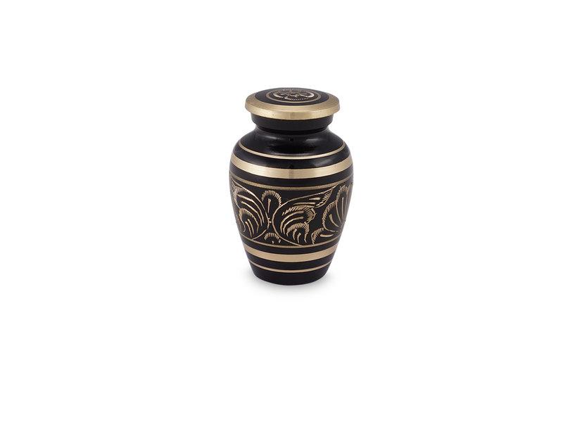 Gee motif urn klein - messing