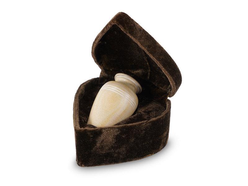 Mini urn teakhout - marmer