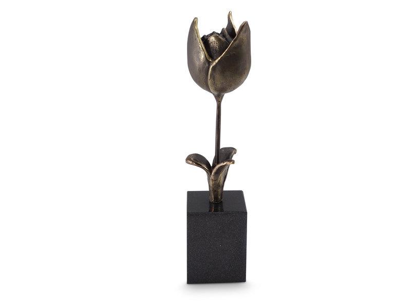 Mini urn asbeeldje tulp - brons