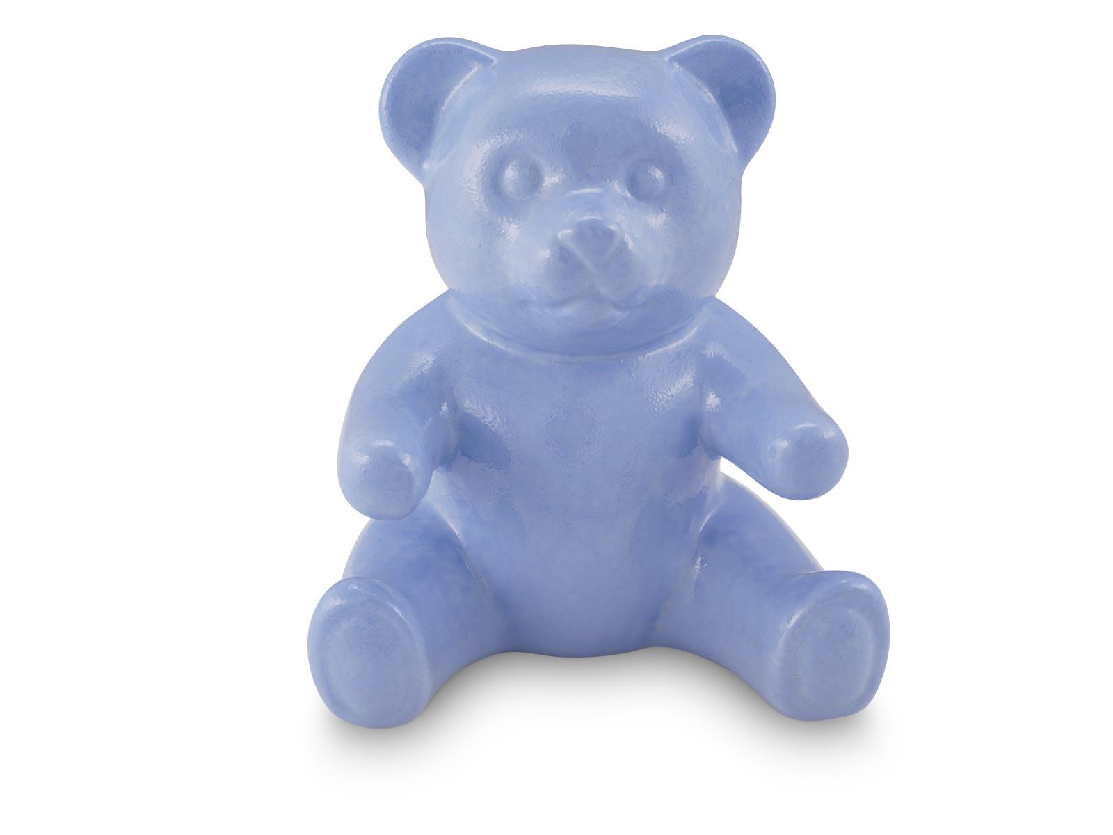Kinder urn blauwe beer - porselein