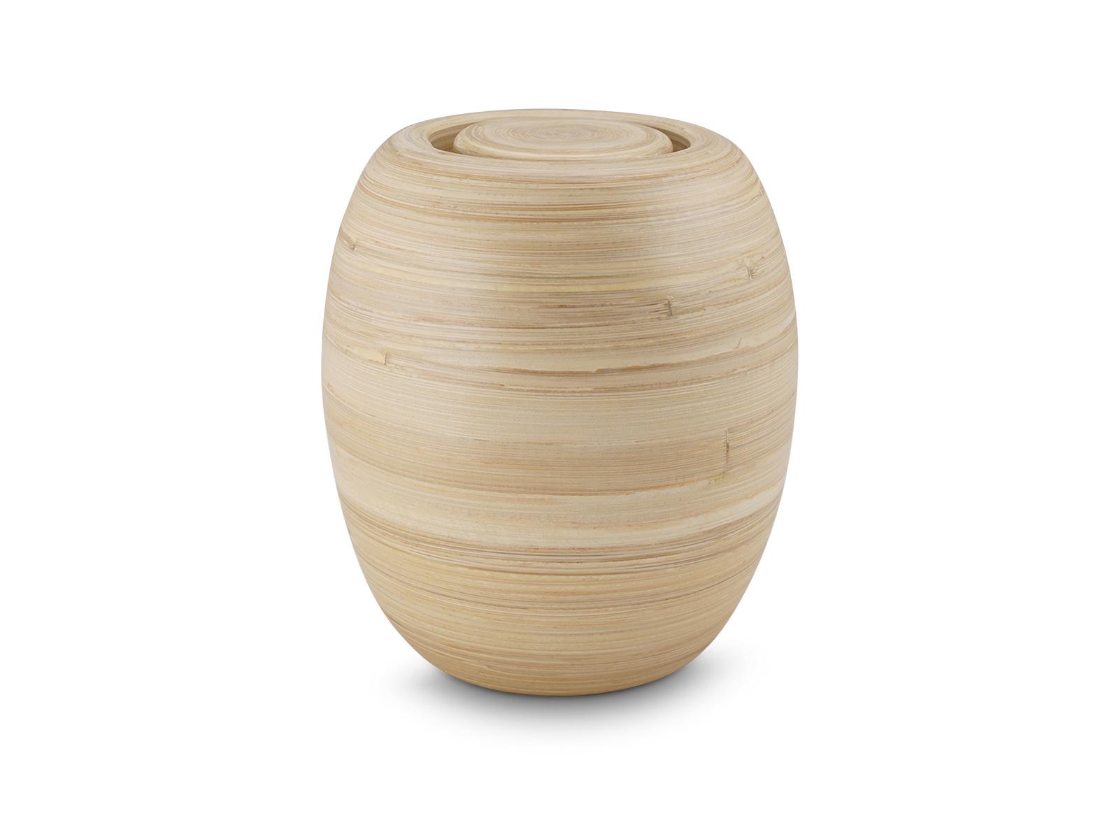 Bakka bamboe urn middel - hout