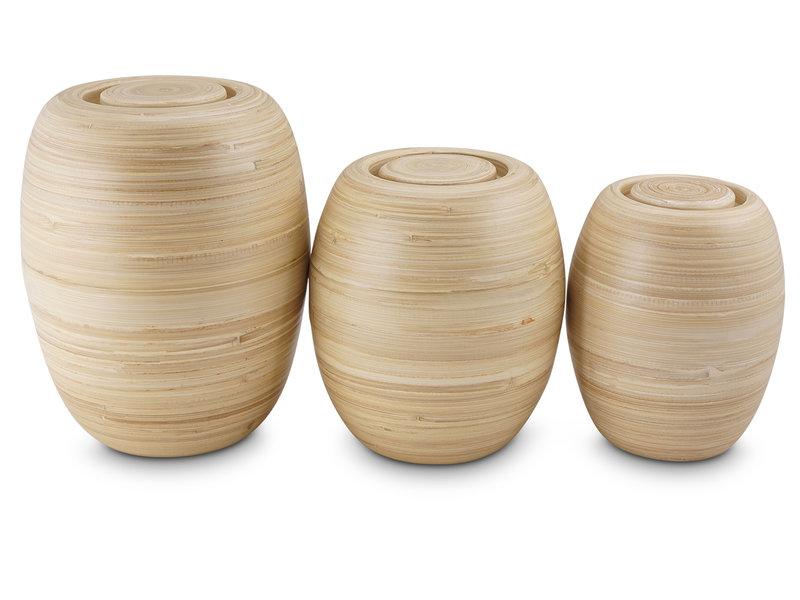 Bakka bamboe urn groot - hout