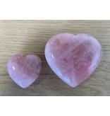 Hart urn klein - Rozenkwarts edelsteen