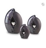 Geborgenheid hart blauw grijs groot - keramiek