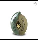 Geborgenheid hart groen medium - keramiek