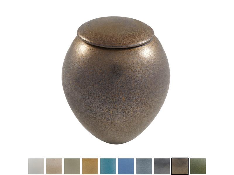 Keramische urn elegant klein - verkrijgbaar in 10 kleuren