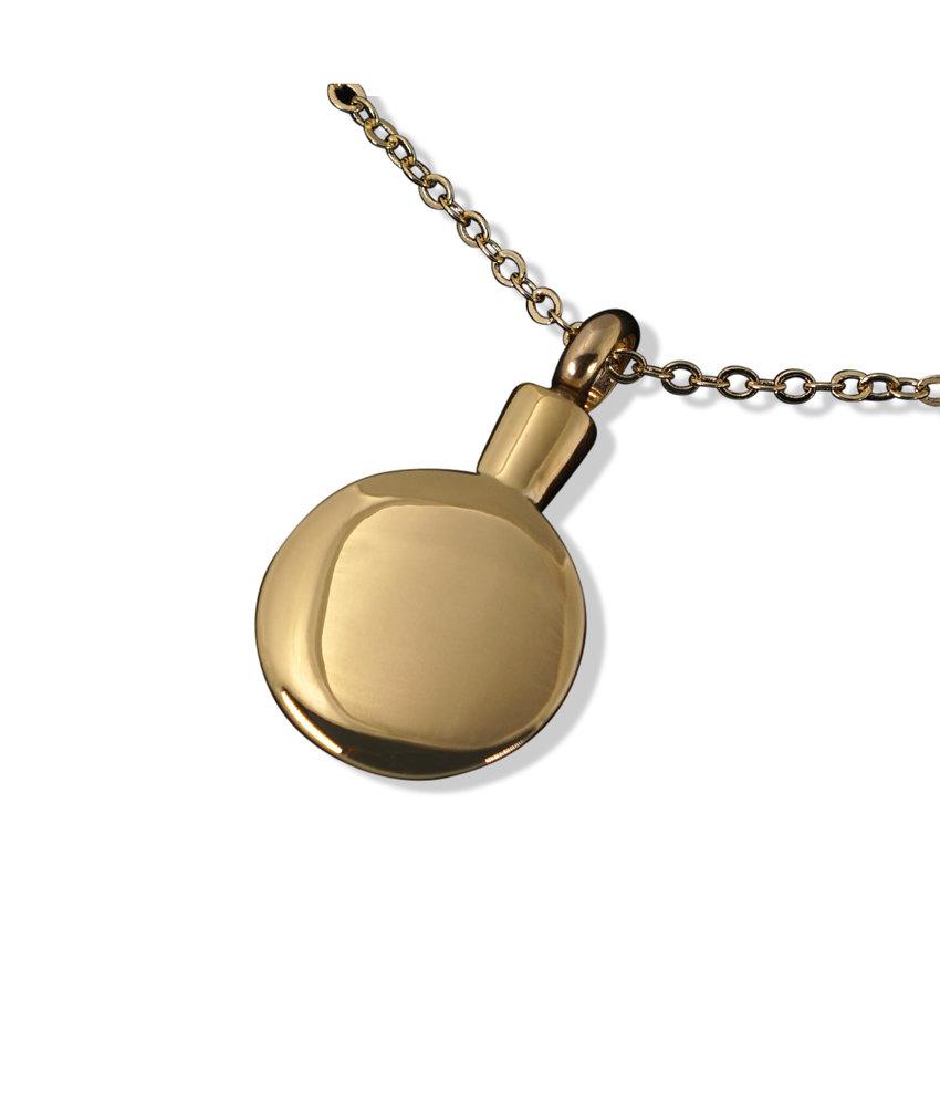 Ashanger flacon goudkleurig - RVS