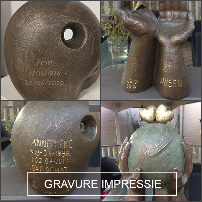 Duo urn eeuwige verbintenis met kaarsje - keramiek