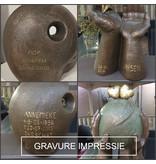 Boeddha urn met kaarsje groot - keramiek