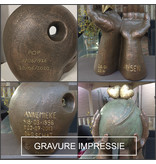 Verlichte gevoelens hart urn groot - keramiek