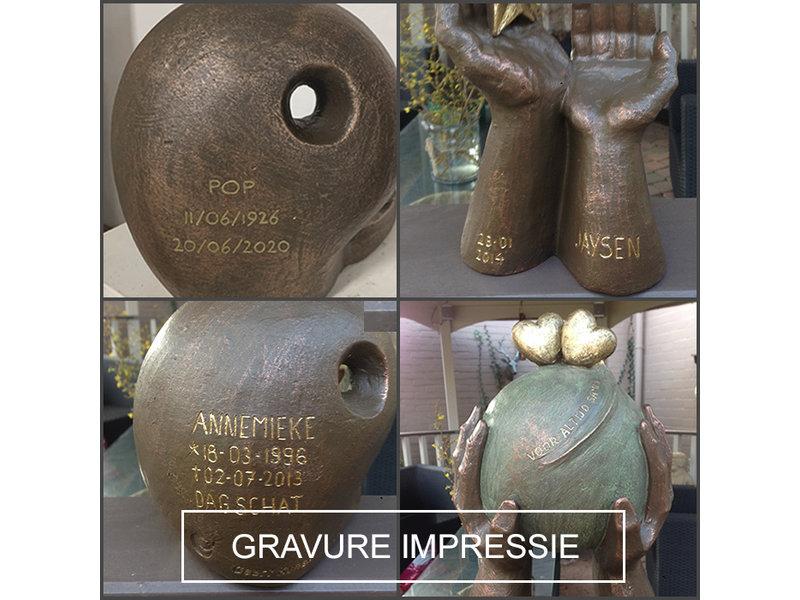 Boeddha urn klein - keramiek