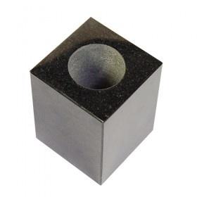 Mini urn asbeeldje klavertje vijf zwart - verzilverd