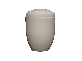 Eco urn breda - uni grijs - bio