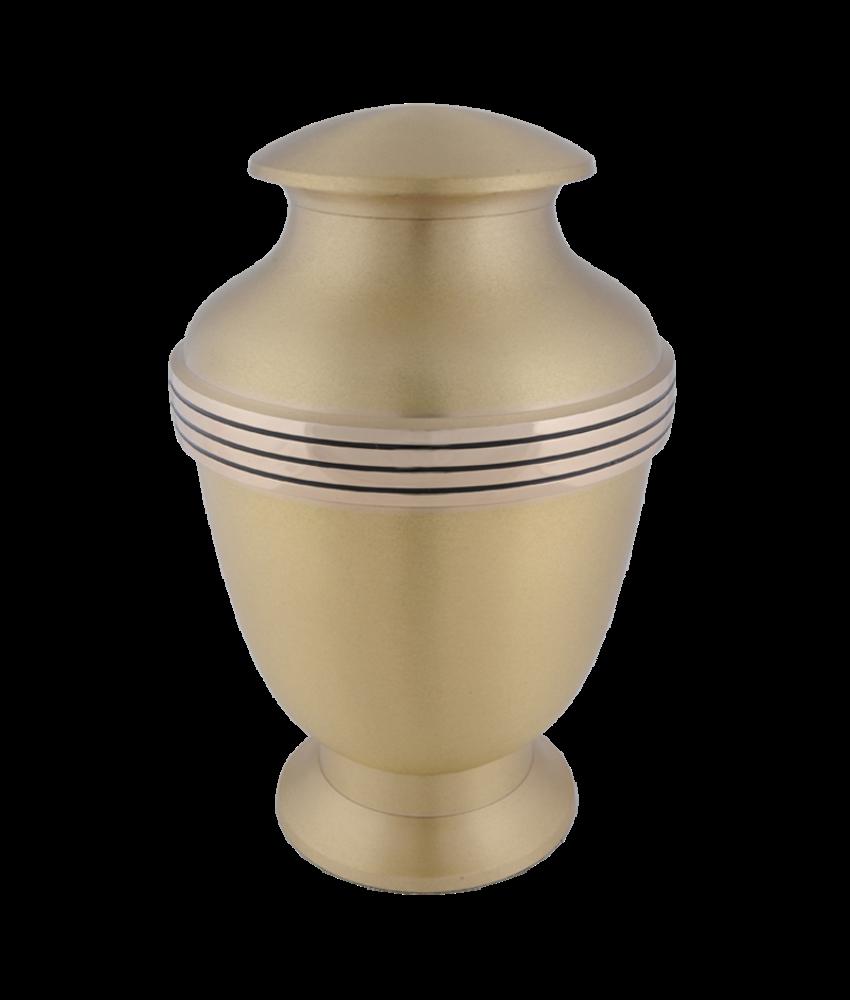 Urn elegante brushed brass - messing