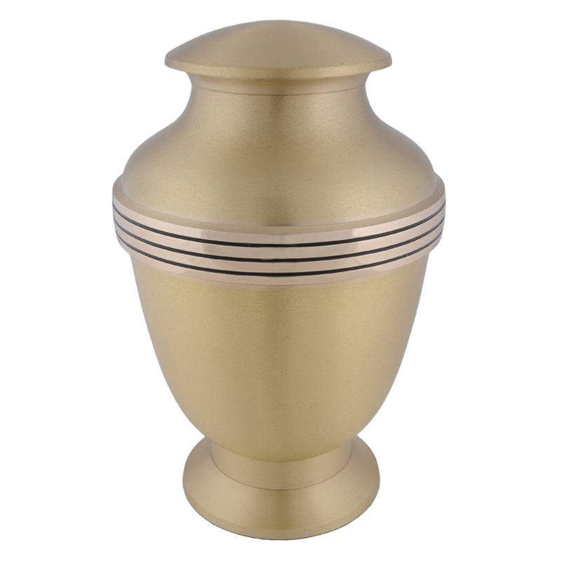 Urn elegante brushed brass - messing