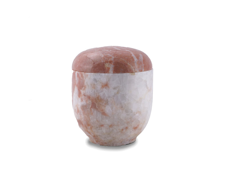 Medium urn rose - marmer - SALE