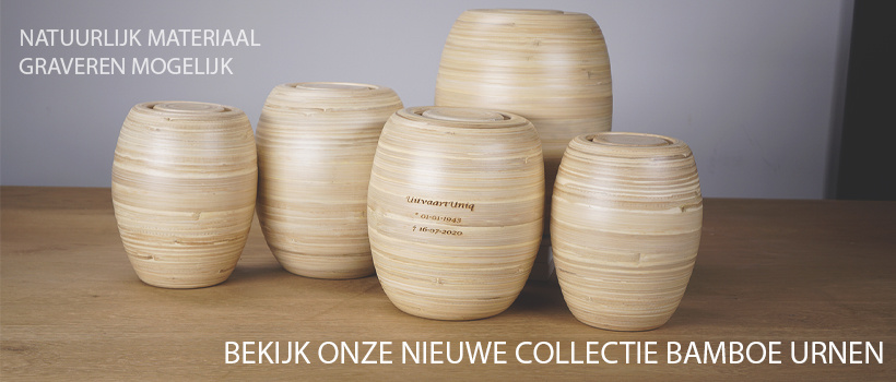 Bamboe en houten urnen