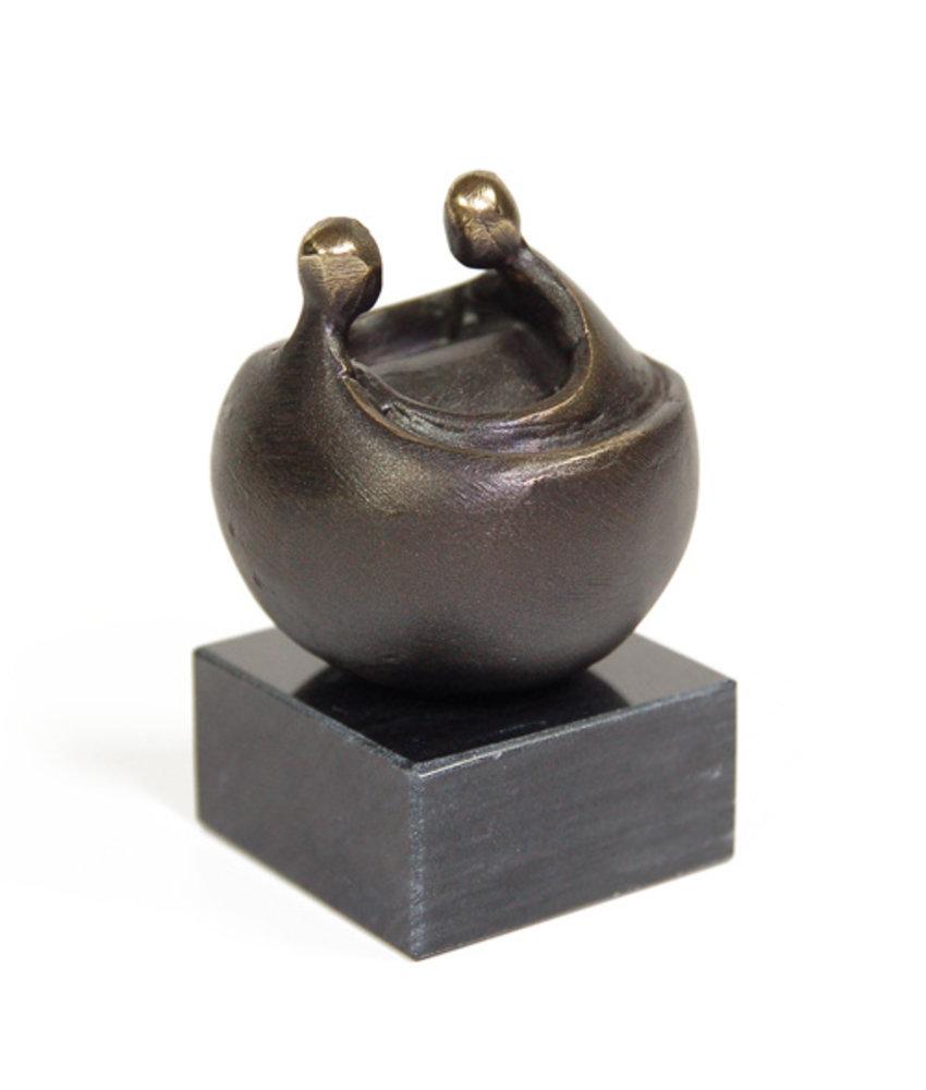 Mini urn asbeeldje freyja - brons