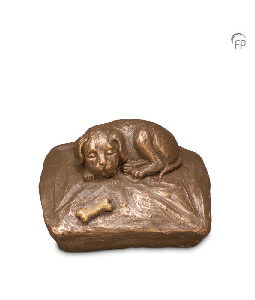 Mini dierenurn slapende hond - keramiek