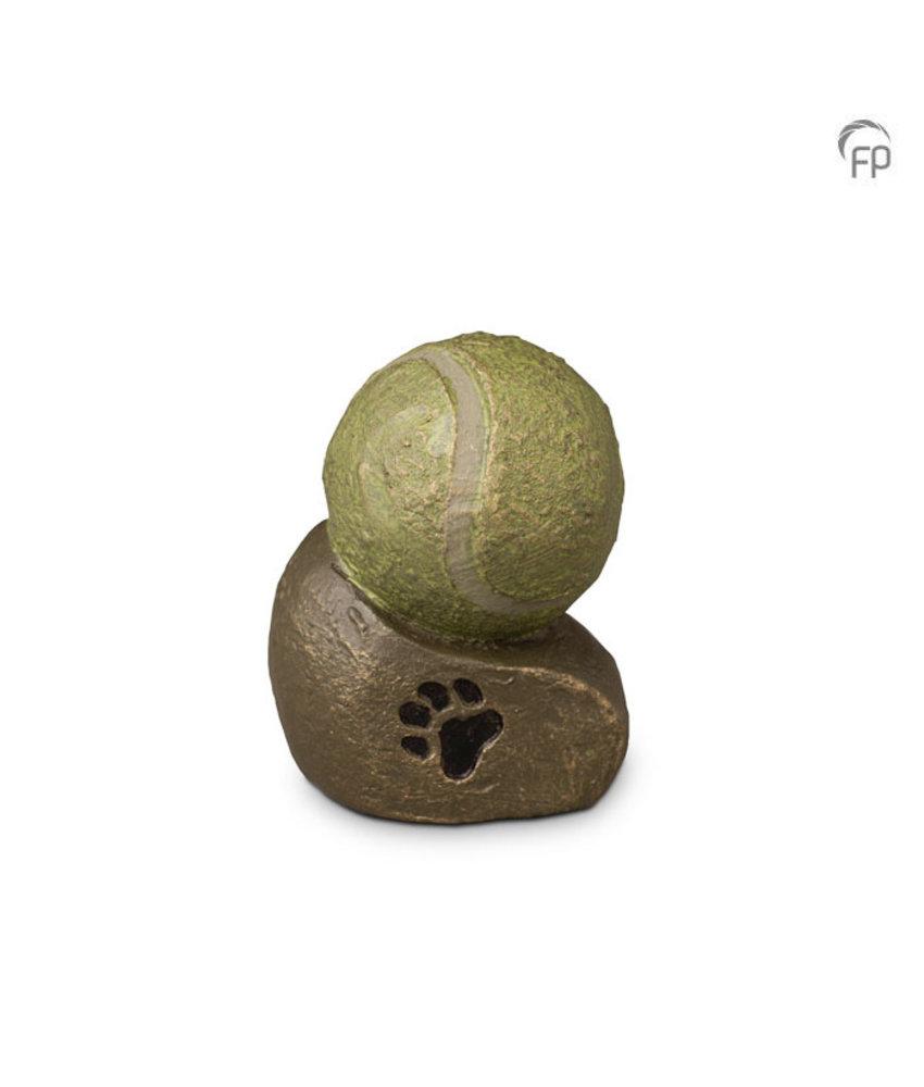 Mini dierenurn - Tennisbal - keramiek