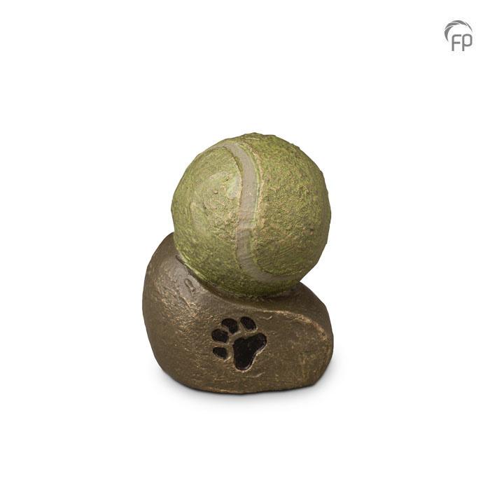 Mini dierenurn - Tennisbal- keramiek