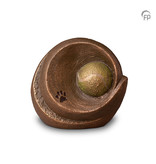 Mini dierenurn - Tennisbal omsloten- keramiek