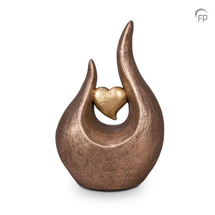 Fuego urn hart - keramiek