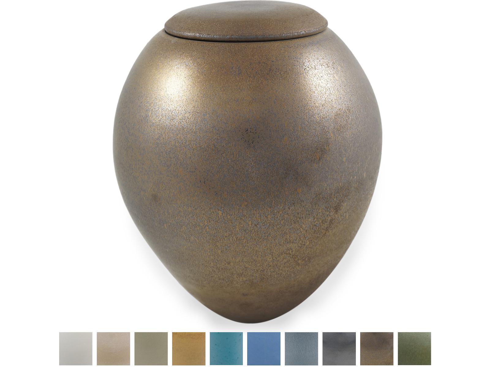 Keramische urn elegant groot - brons