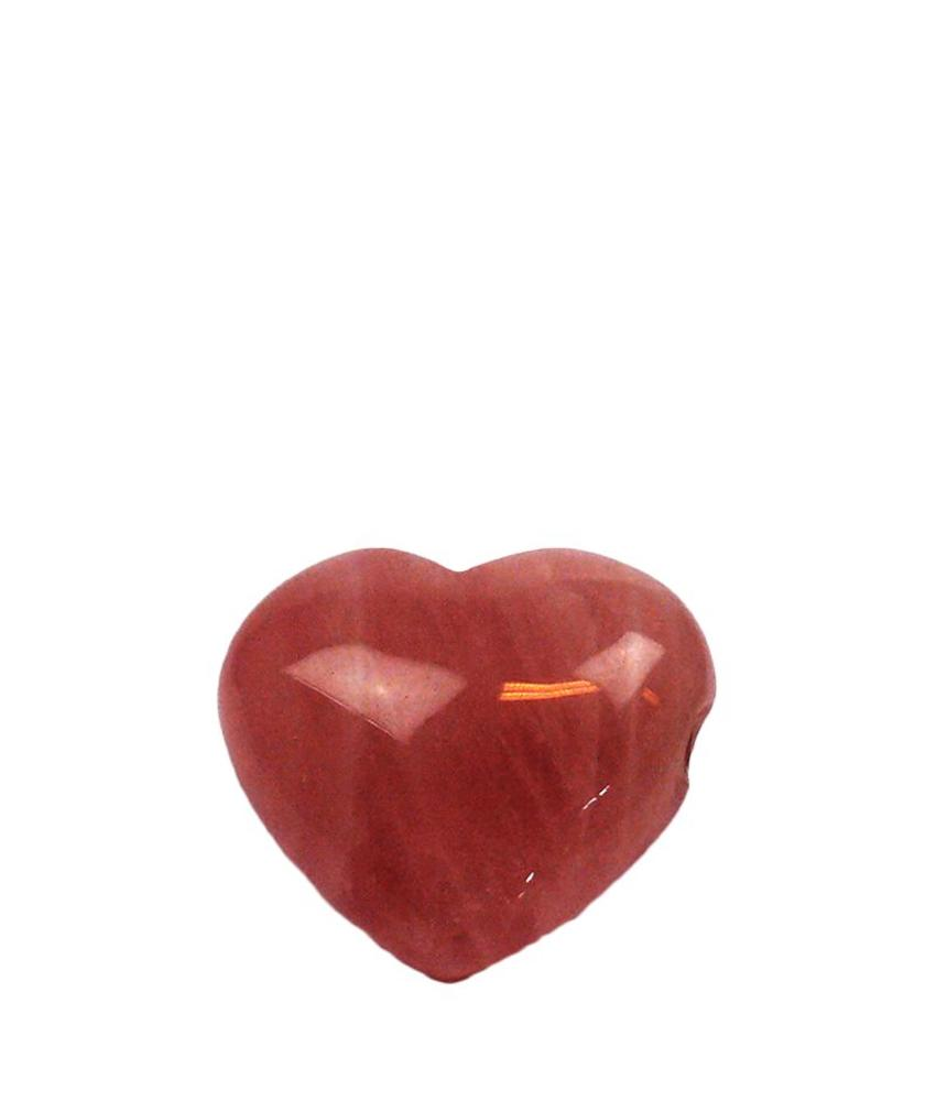 Hart urn mini - Rode Jaspis edelsteen