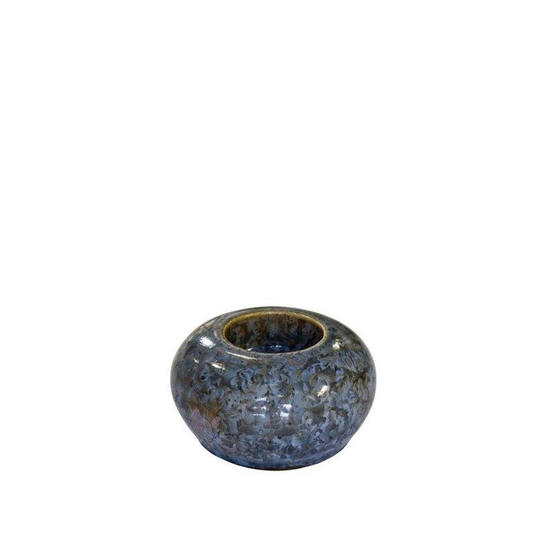 Smaragd mini urn met licht - keramiek