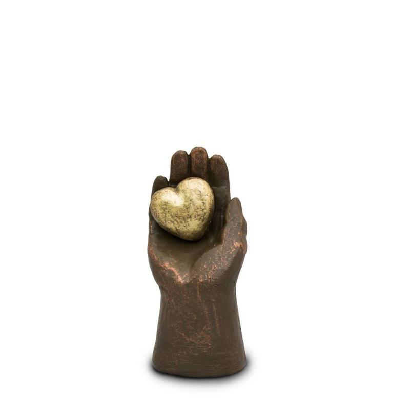 Hart un hartje in hand - keramiek