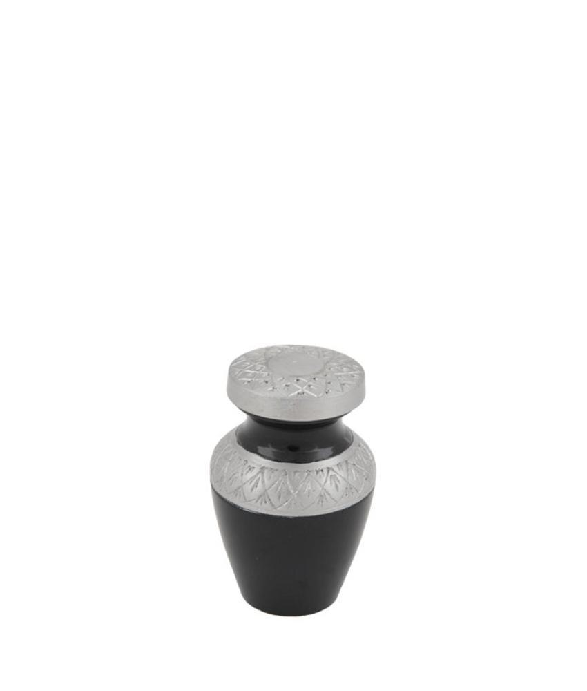 Celeste Charcoal mini urn - aluminium
