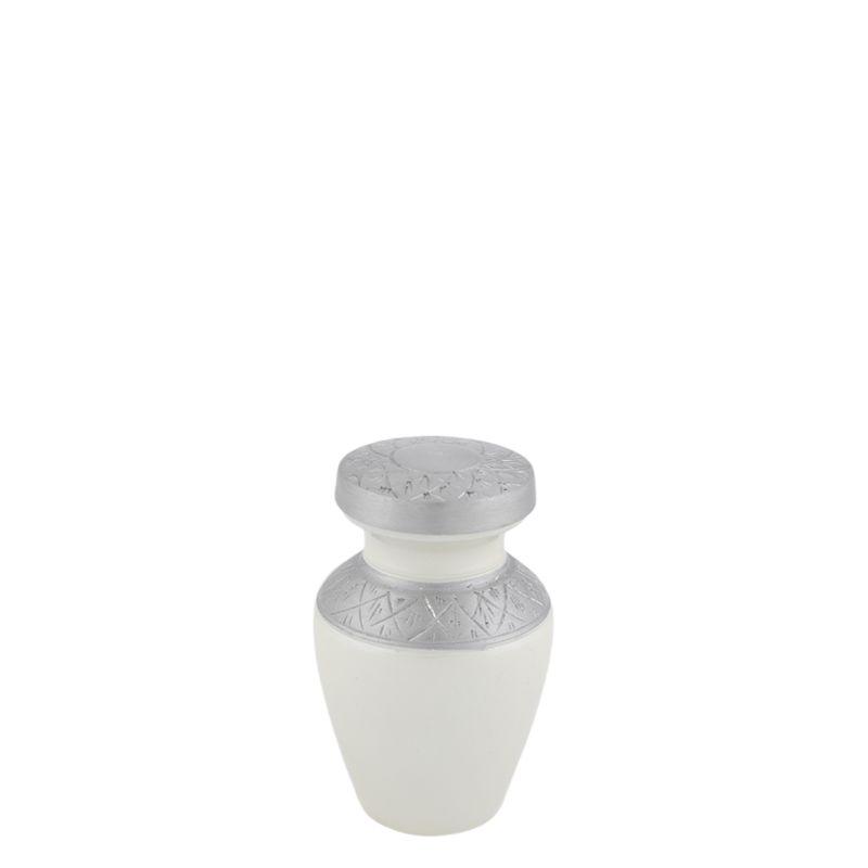 Celeste Pearl mini urn - aluminium