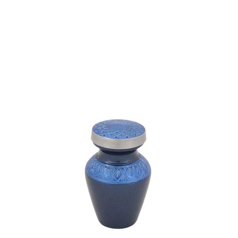 Celeste Indigio mini urn - aluminium
