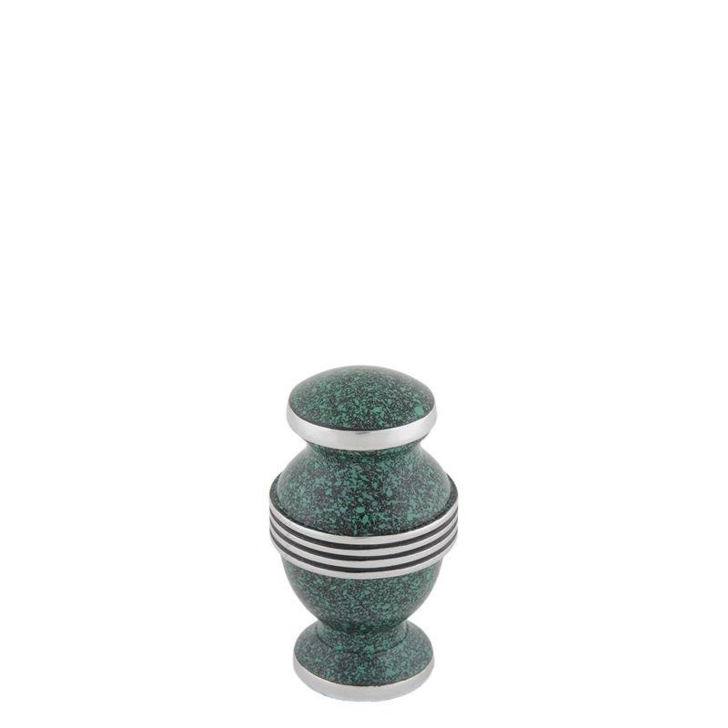 Contemporary Groen mini urn - aluminium