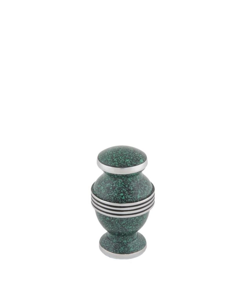 Contemporary Groen mini urn - aluminium