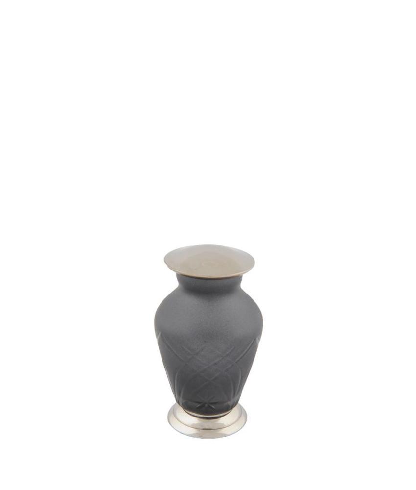 Mini urn zwart classica - glas