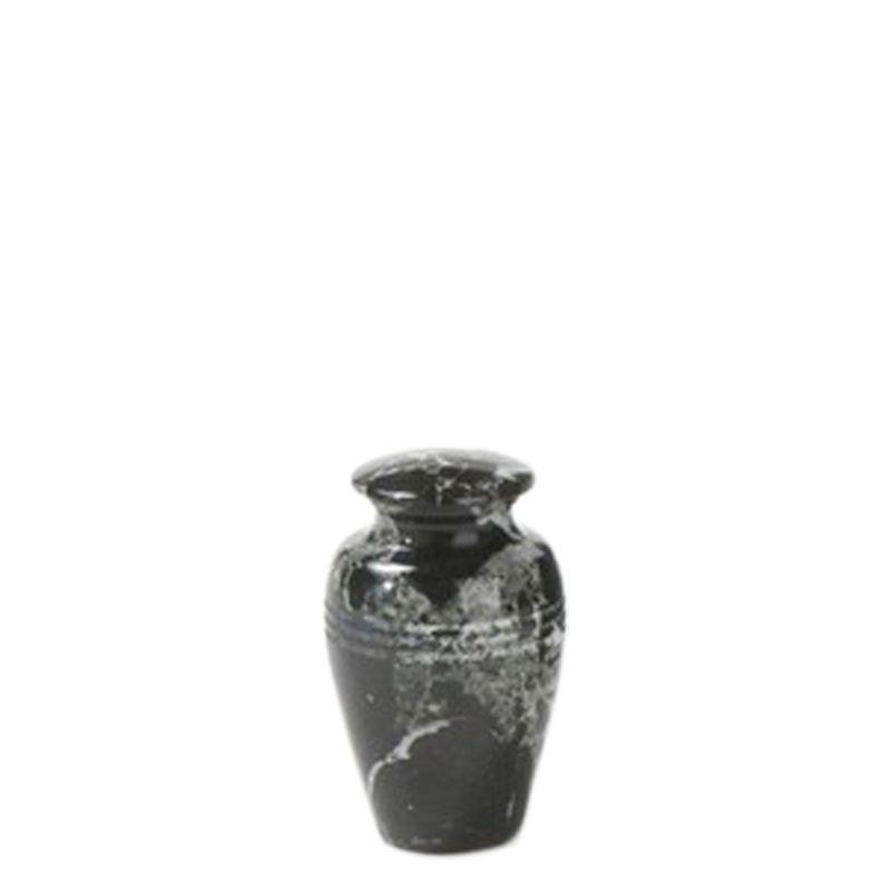 Mini urn zwart - marmer