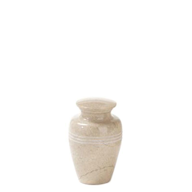Mini urn creme - marmer
