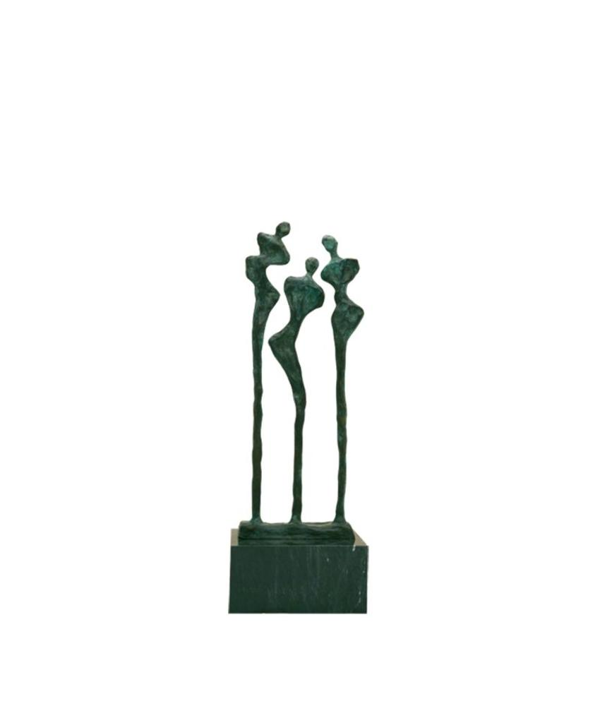 Mini urn asbeeldje hestia - brons