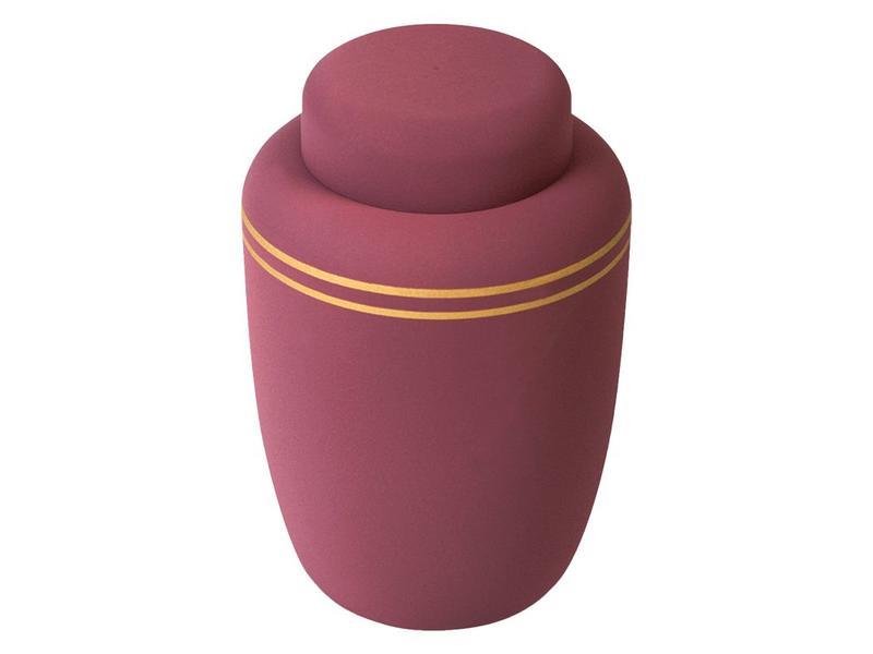 Eco urn bordeaux stripe - bio