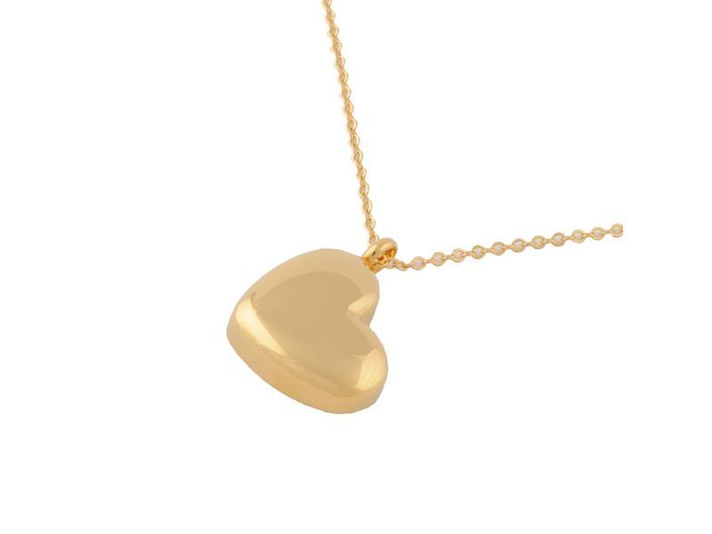 Ashanger hart goudkleurig - RVS