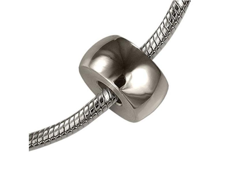 Asbedel rond radiaal - zilver