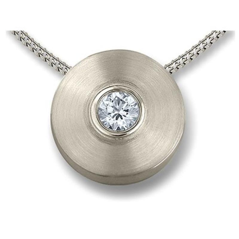 Ashanger oog klein - 925 Sterling zilver met zirkonia