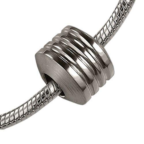 Asbedel rond met 3 sierranden - zilver