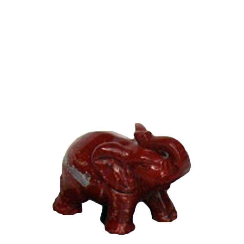 Mini urn olifant - rode jaspis
